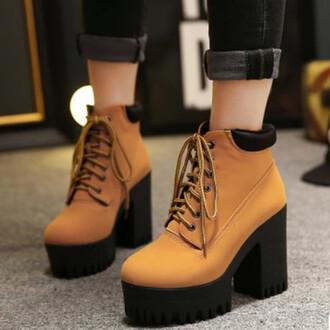 shoes timberlands platform shoes high heels zaful