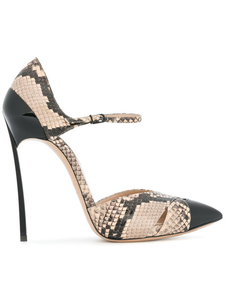 snake women king pumps leather nude shoes