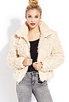 Cool Girl Knotted Shag Jacket | FOREVER21 - 2000125645