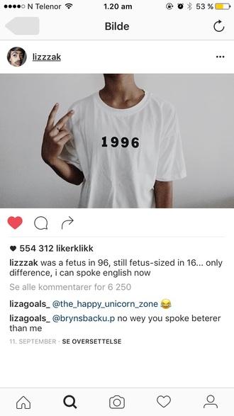 t-shirt white 1996 lisa