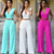 wholesale Slim casual with Belted Wide Leg Jumpsuit