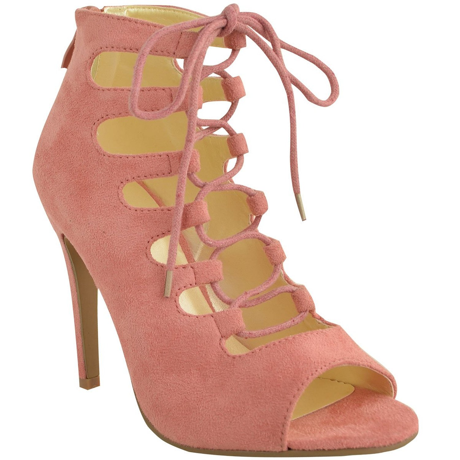 com: Fashion Thirsty Womens High Heels Stilettos Lace Up Gladiator ...