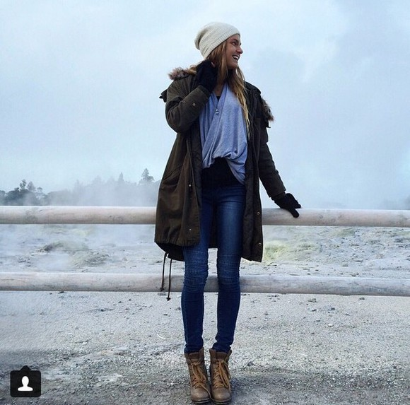 shoes boots outfit style jacket parka blouse