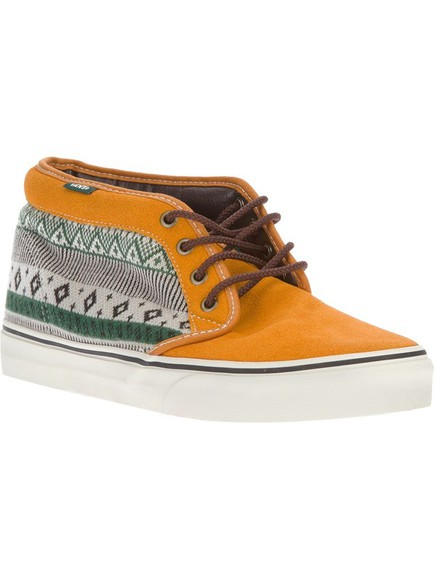 shoes vans ethnic chukka beige green platform shoes
