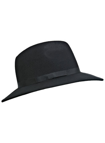 Black Felt Fedora - Miss Selfridge