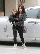 jacket,biker jacket,leather jacket,kim kardashian,sneakers,shoes