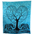 Elephant With Heart Shaped Tree Indian Tapestry