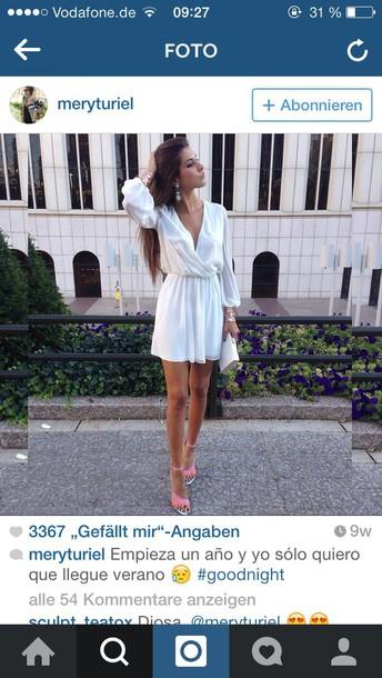 dress white dress long sleeve dress short dress