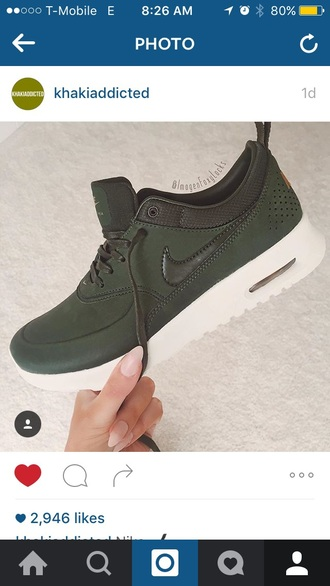 shoes nike green olive green sneakers