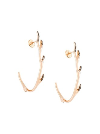 deer metallic women earrings hoop earrings jewels
