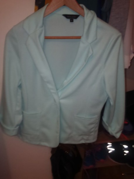 jacket mint green blazer