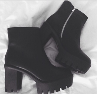 shoes black boots heels black boots platforms platform boots platform shoes rock chick
