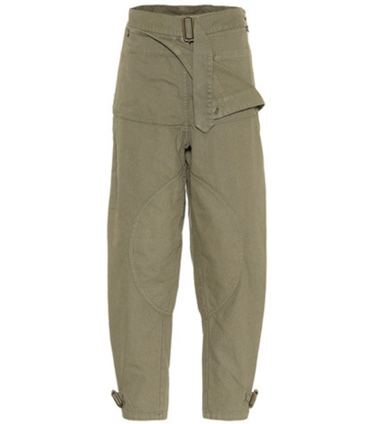 JW Anderson Cotton pants in green