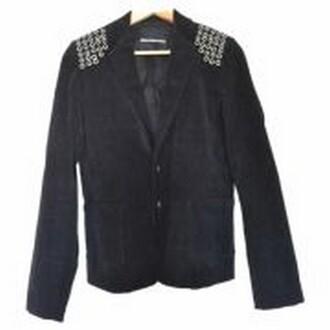 sequins jacket blazer black jacket clous