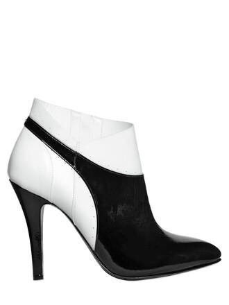 leather ankle boots boots ankle boots leather white black shoes