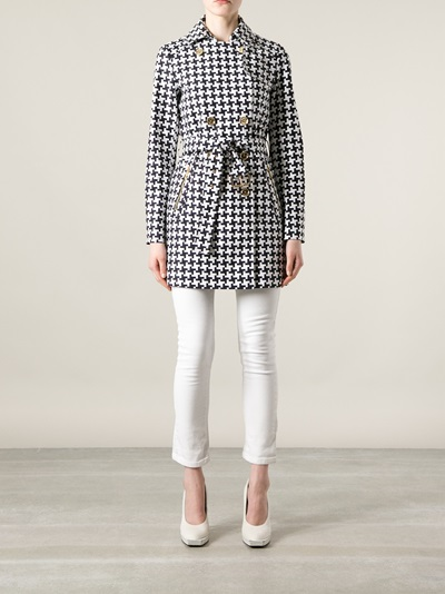 Michael Michael Kors Houndstooth Check Coat - Twist'n'scout-paleari Online Store - Farfetch.com