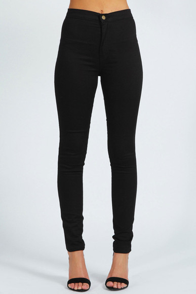 clothes jeans skinny jeans black slim fit bottom comfy jeans high waist jeans