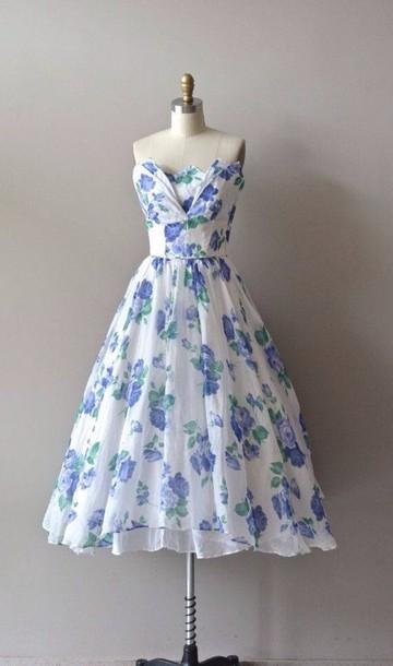 dress floral floral dress vintage school vintage