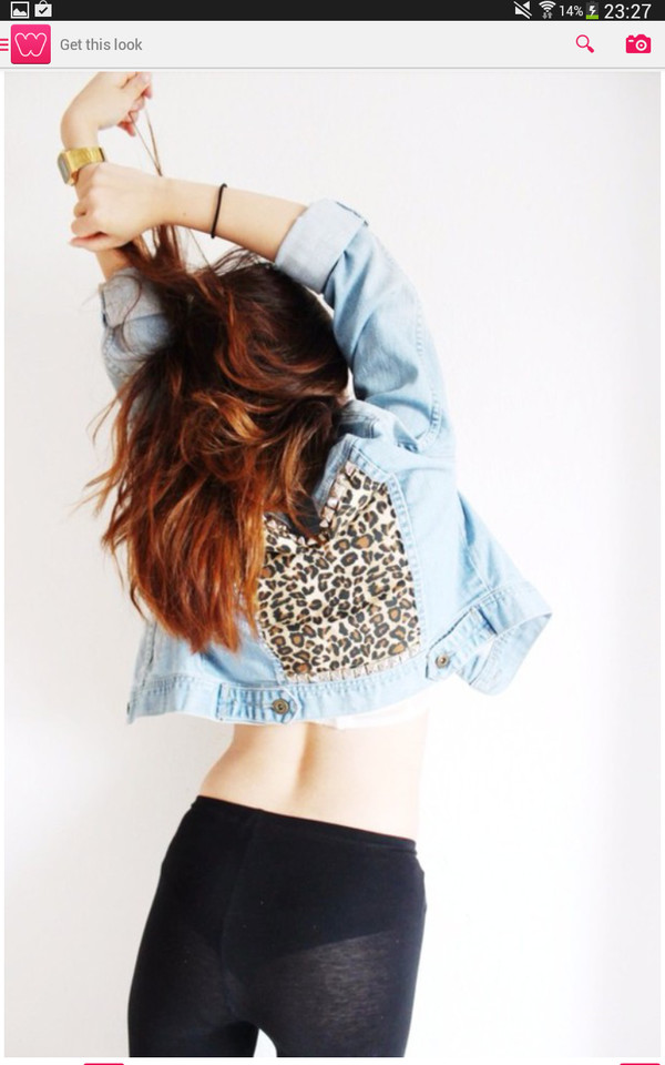 jacket leopard print leggings nice hot style