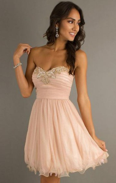 Robe soiree rose pale