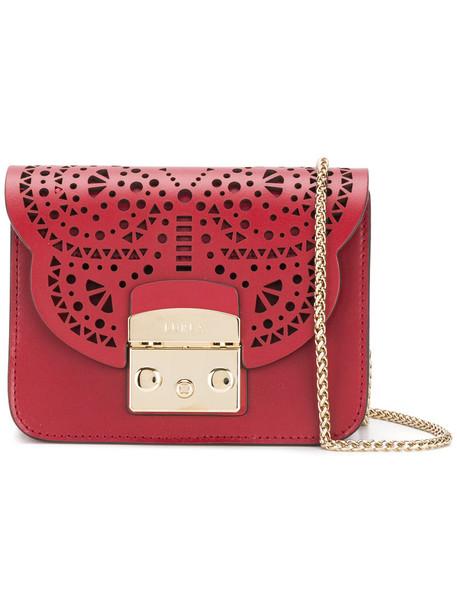 Furla cross mini women bag leather red