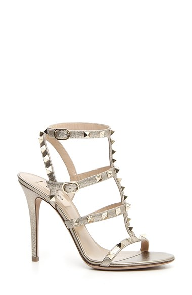 b220b022bfc6 Valentino  Rockstud  Ankle Strap Sandal (Women)