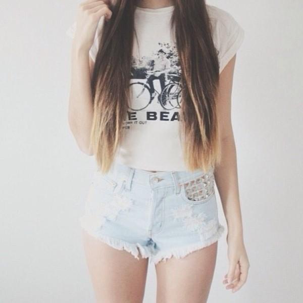 shirt jeans shorts tumblr shorts