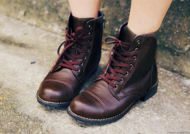 shoes boots leather lace-up shoes brown leather boots zipper shoes