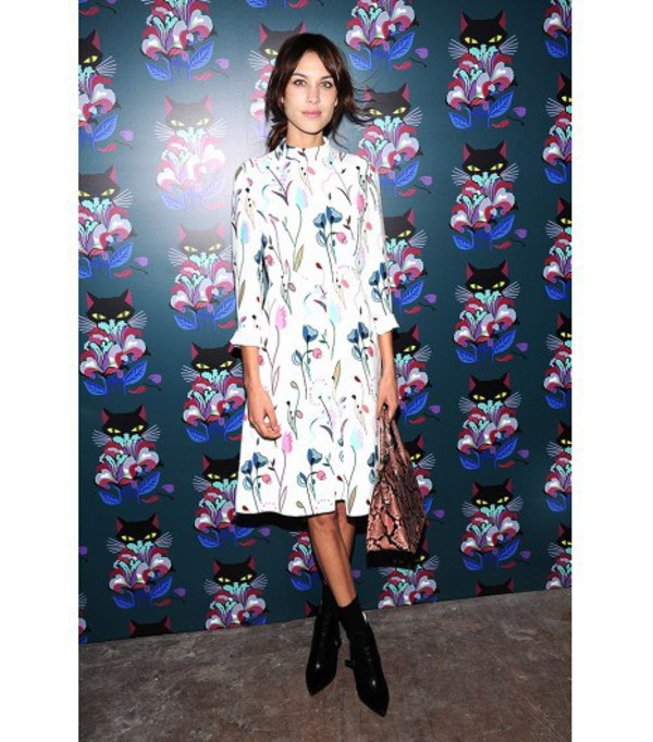 dress alexa chung bag celebrity style