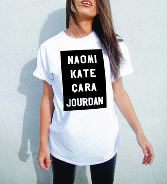 kate moss t-shirt top graphic tee graphic tees cara delevingne naomi campbell jourdan dunn supermodel supermodel style unisex shirt slogan top slogan tee slogan tshirt white white t-shirt womens fashion graphic t-shirt