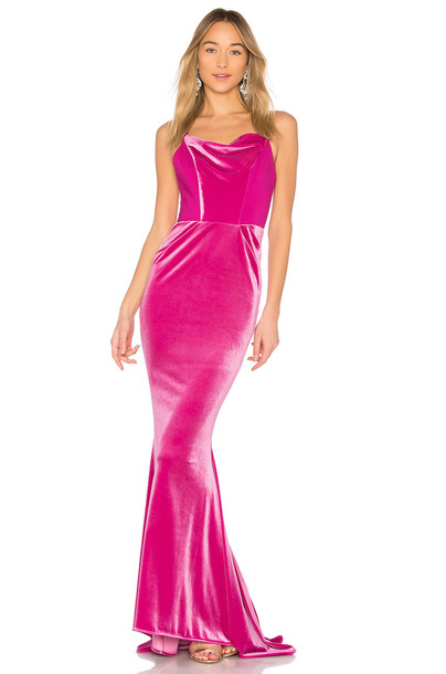 Michael Costello gown pink dress