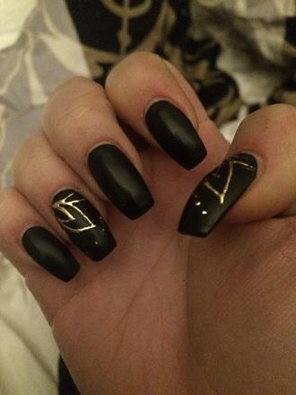 nail polish nail accessories nails black nail polish gold gold navy