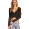 Alo yoga amelia long sleeve yoga crop top at swimoutlet.com - free shipping