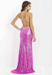 dress,prom dress,sparkle,purple sparkly prom dress long