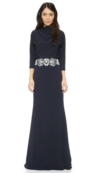 gown navy dress