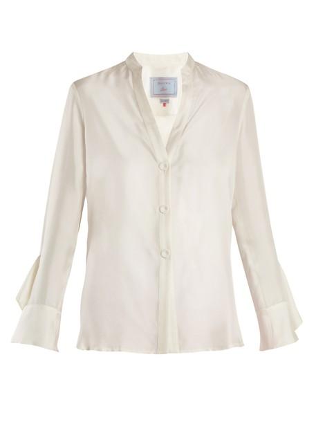 DOVIMA PARIS blouse silk white top