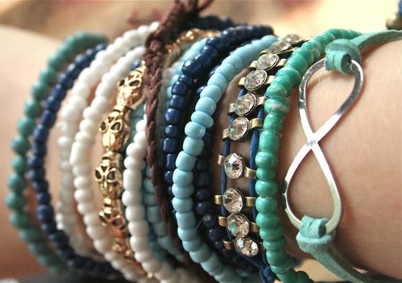 blue jewels jewels bracelets