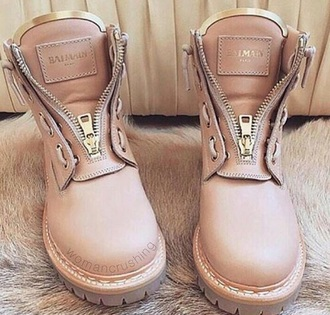 shoes balmain boots pink rose gold gold beautiful girly nude beige