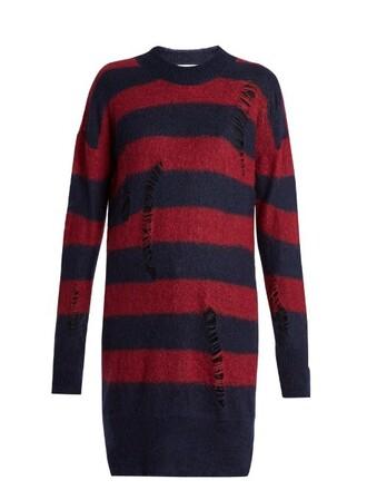 sweater mohair wool blue