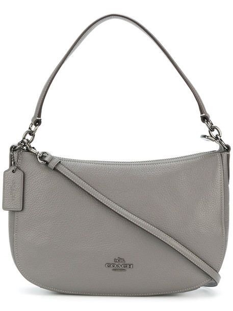 coach women bag crossbody bag leather grey
