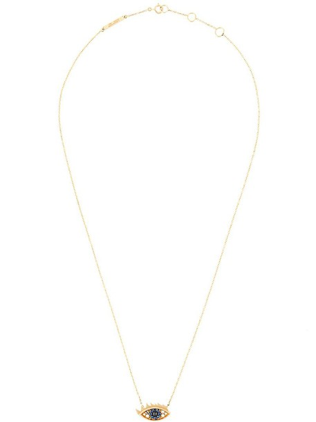 Delfina Delettrez eyes women necklace gold black grey metallic jewels