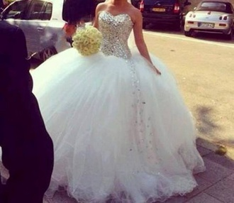 dress poffy dress quinceanera dress diamond dress