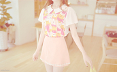 dress,cute dress,korean fashion,pink dress,white dress,yellow dress,ulzzang,kfashion,blouse,skirt,pastel dress