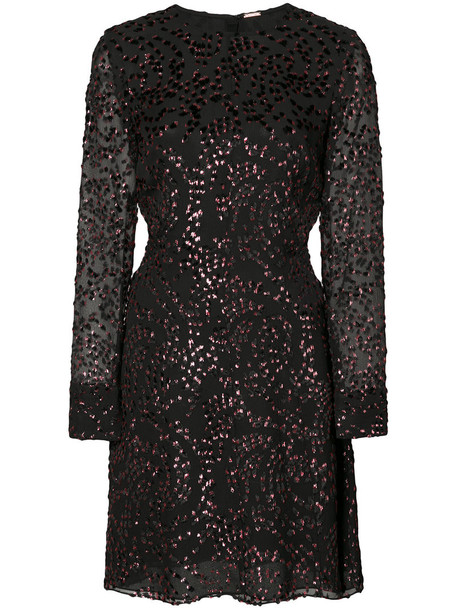 Adam Lippes dress long women black silk velvet