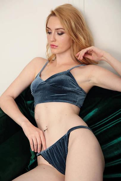 underwear velvet velvet lingerie bralette velvet bralette lingerie lingerie set blue