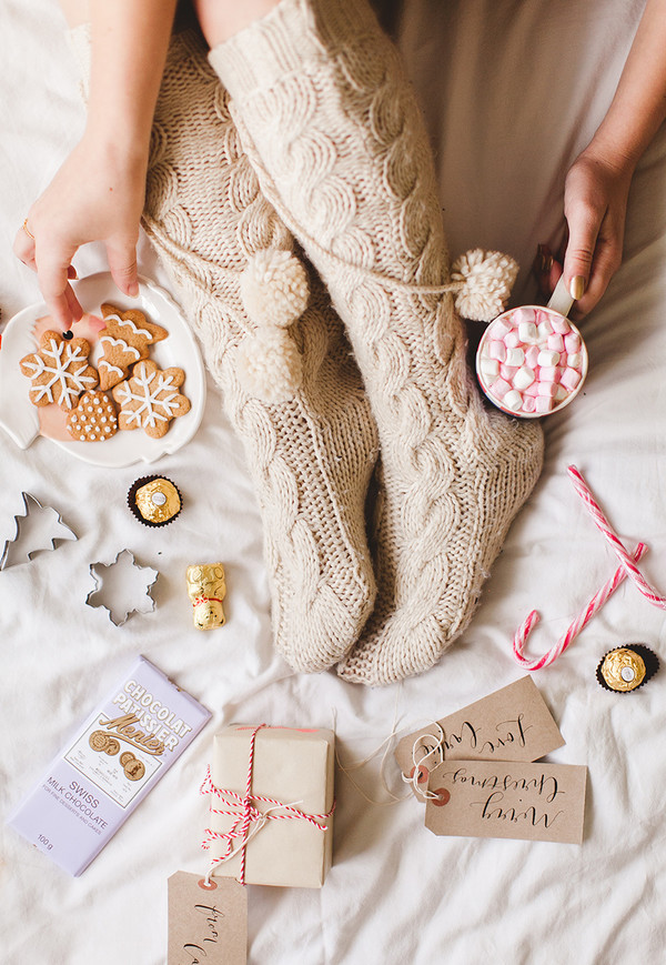 b8c4dd2b7 wish wish wish blogger knitwear socks beige christmas food cable knit  holiday season tumblr knitted socks