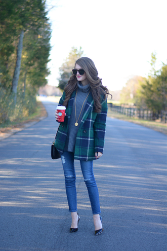 shoes blogger southern curls and pearls tartan winter outfits grey sweater