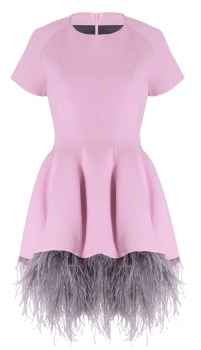 Alisija dress with carmen feather ostrich skirt