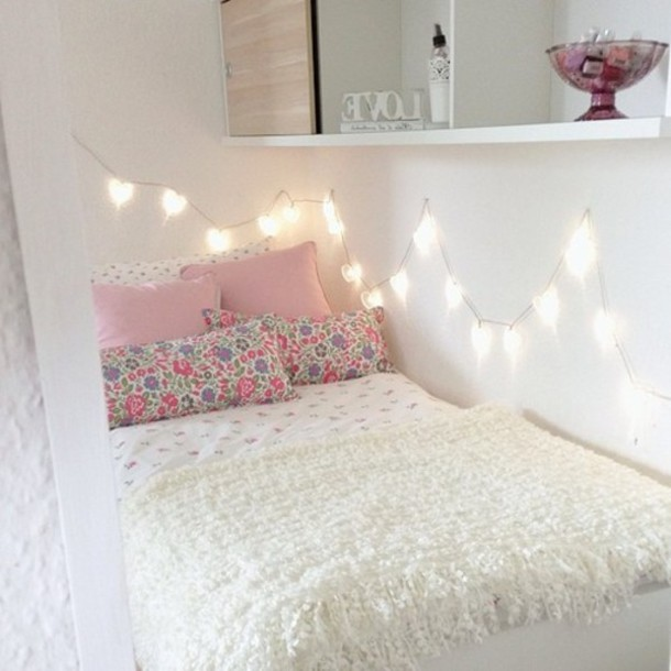 Pretty Room Decorations Pink Girls Bedroom Ideas Pretty: Dress: Pillow, Lights, Home Decor, Decorative Pillows