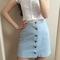 Cute fashion cow boy button skirts
